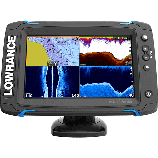 Elite 7 ti fish finder motortech for Fish finder lowrance